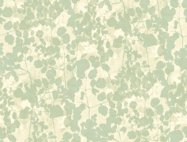 Candice Olson Pressed Leaves Wallpaper - Green