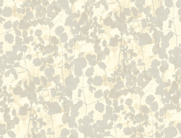 Candice Olson Pressed Leaves Wallpaper - Beige