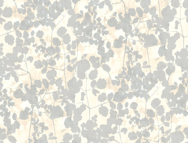 Candice Olson Pressed Leaves Wallpaper - Cream