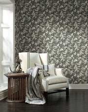 Pressed Leaves Wallpaper by Candice Olson - Dark Grey
