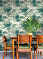 Water Lily Wallpaper by Candice Olson - Green