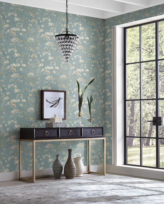 Botanical Fantasy Wallpaper by Candice Olson - Blue