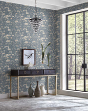 Botanical Fantasy Wallpaper by Candice Olson - Dark Blue