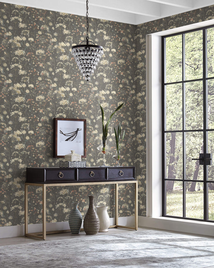 Botanical Fantasy Wallpaper by Candice Olson - Black