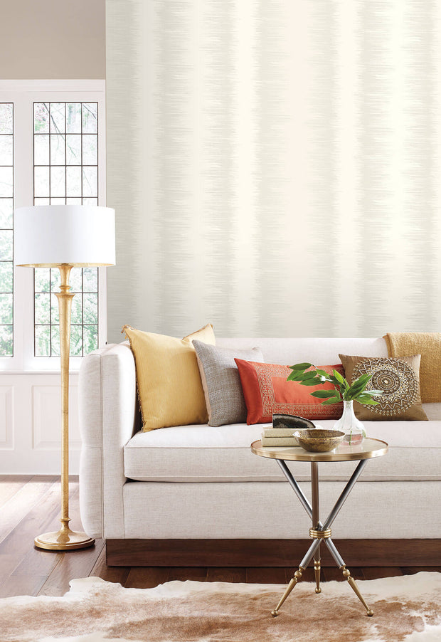 Candice Olson Quill Stripe Wallpaper - Cream