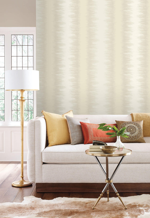 Candice Olson Quill Stripe Wallpaper - Beige