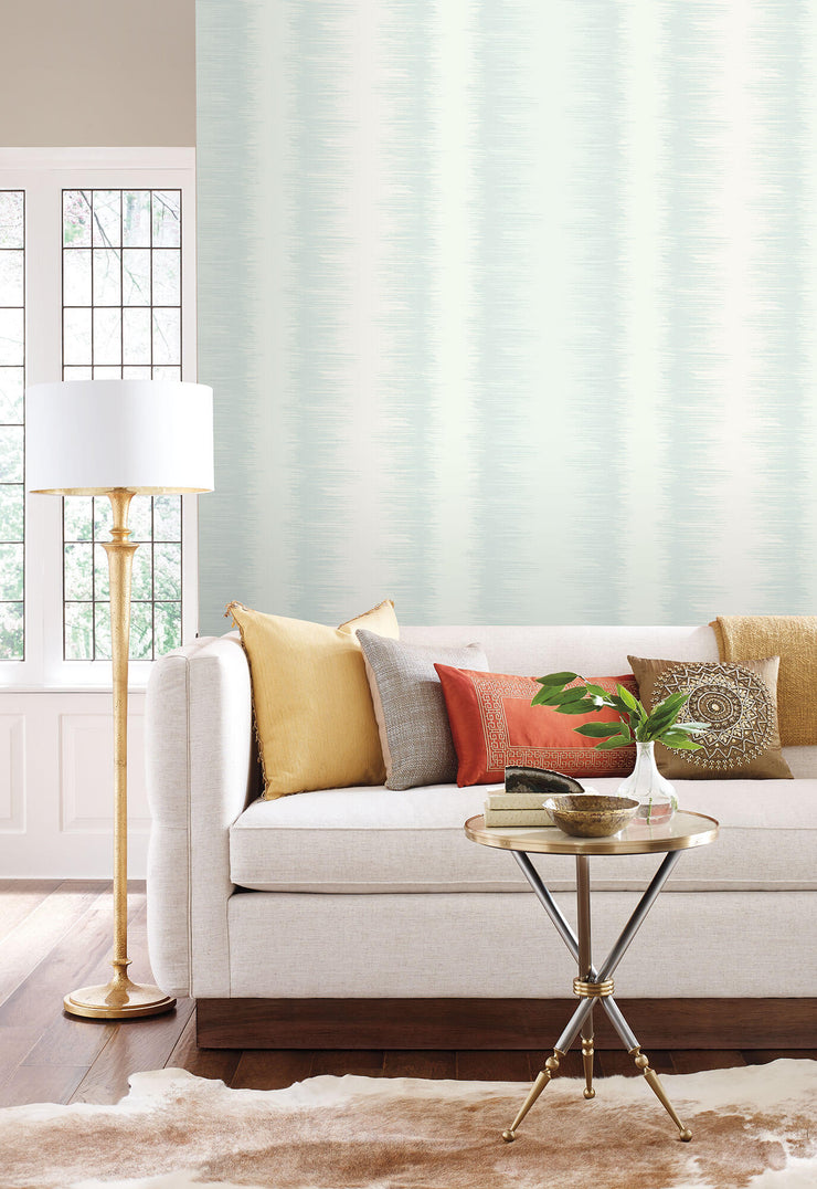 Quill Stripe Wallpaper by Candice Olson - Blue