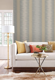 Quill Stripe Wallpaper by Candice Olson - Dark Grey