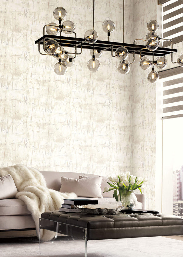Modern Art Wallpaper by Candice Olson - White
