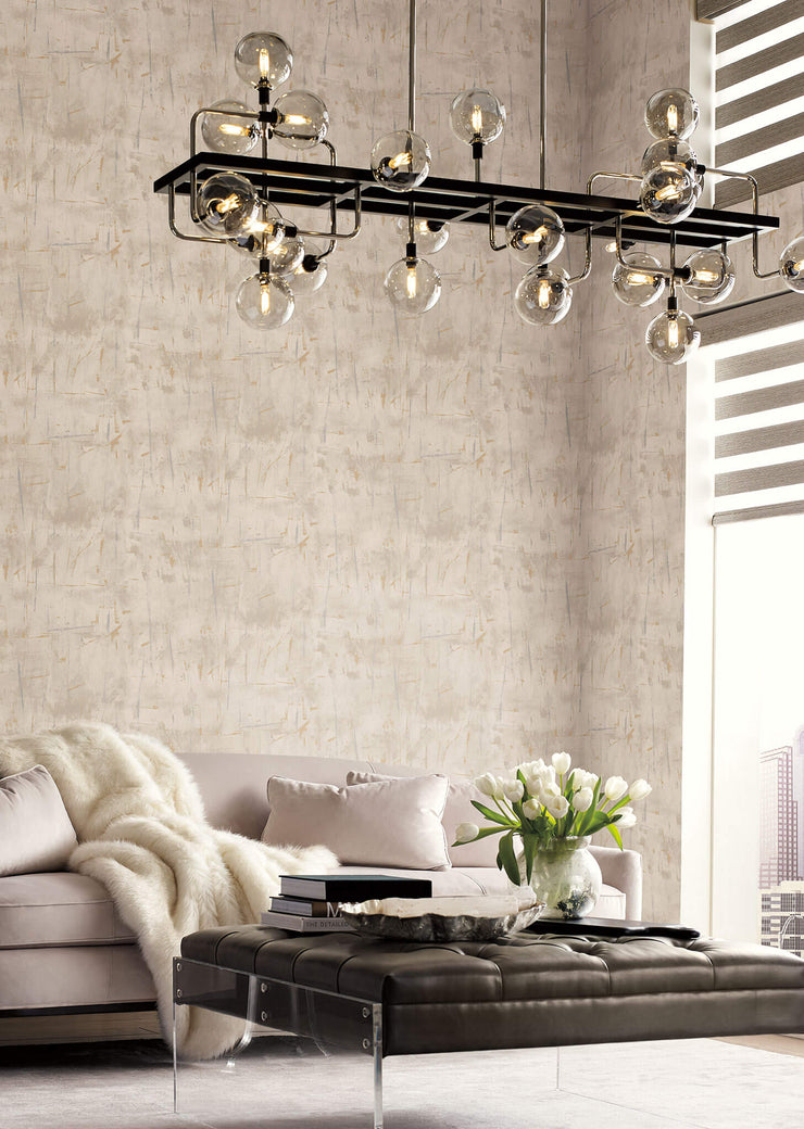 Modern Art Wallpaper by Candice Olson - Silver