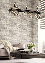 Modern Art Wallpaper by Candice Olson - Grey