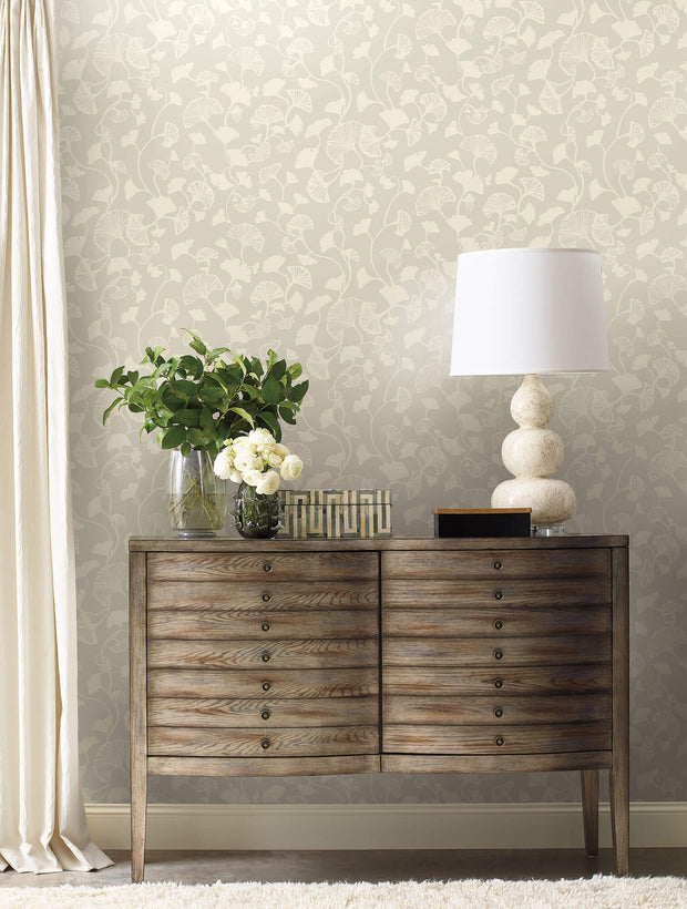Candice Olson Gingko Trail Wallpaper - Cream