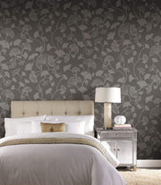 Gingko Trail Wallpaper by Candice Olson - Black