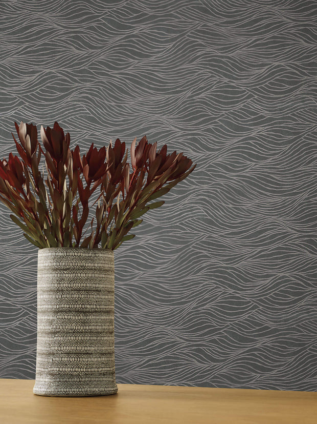 Sand Crest Wallpaper by Candice Olson - Silver