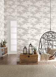NR1505 Norlander Wild Tundra Wallpaper Black Gray
