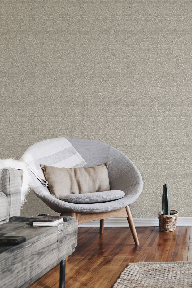 NR1509 Norlander Norse Tribal Wallpaper York Black Gray