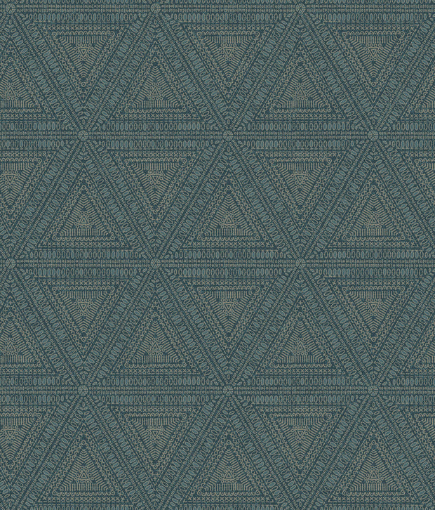 NR1511 Norlander Norse Tribal Wallpaper York Blue