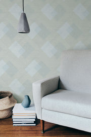 NR1535 Norlander Scandia Plaid Wallpaper Light Blue