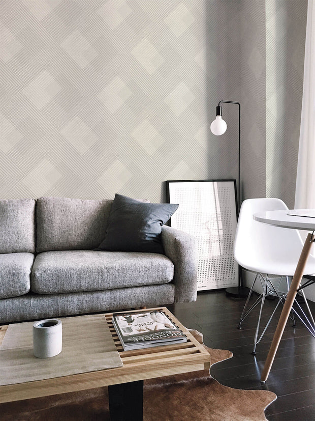 NR1536 Norlander Scandia Plaid Wallpaper Lavender
