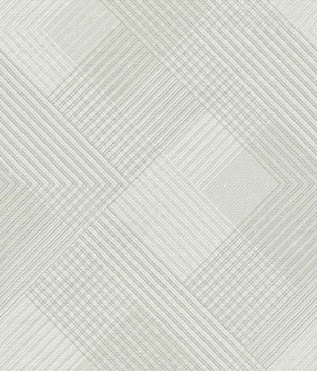 NR1537 Norlander Scandia Plaid Wallpaper Black Gray