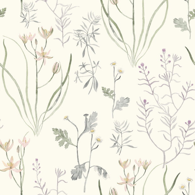 NR1564 Norlander Alpine Botanical Wallpaper York Lavender