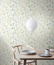 NR1566 Norlander Alpine Botanical Wallpaper York Blue