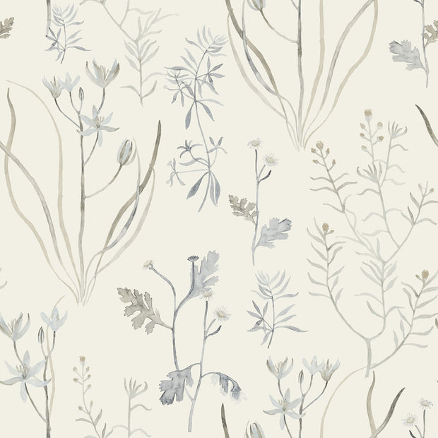 NR1567 Norlander Alpine Botanical Wallpaper York Black Gray