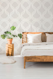 Modern Heritage Dante Ribbon Wallpaper - Beige/White