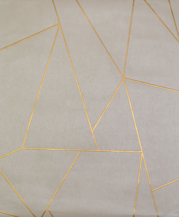 NW3500 Antonina Vella Modern Metals Nazca Wallpaper Almond Pearl Gold