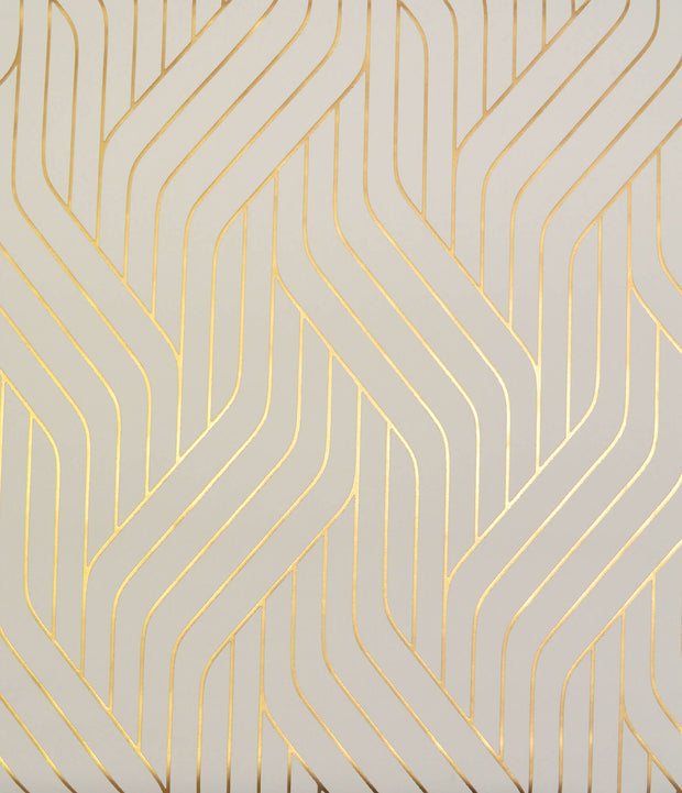 NW3517 Antonina Vella Modern Metals Ebb And Flow Wallpaper Almond Gold
