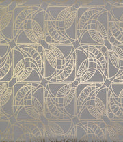 NW3525 Antonina Vella Modern Metals Cartouche Wallpaper Grey Gold