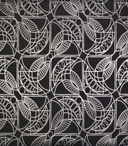NW3528 Antonina Vella Modern Metals Cartouche Wallpaper Black Silver