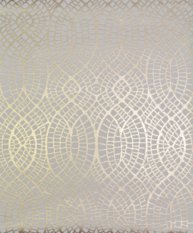 NW3557 Antonina Vella Modern Metals Tortoise Wallpaper Almond Gold