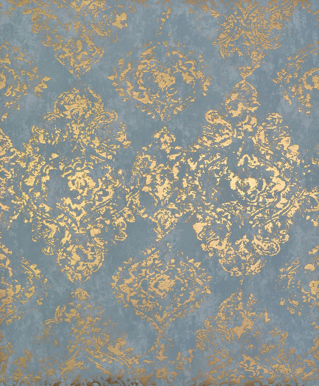 NW3565 Antonina Vella Modern Metals Stargazer Wallpaper Blue Gold