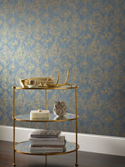 Antonina Vella Stargazer Wallpaper - Blue & Gold