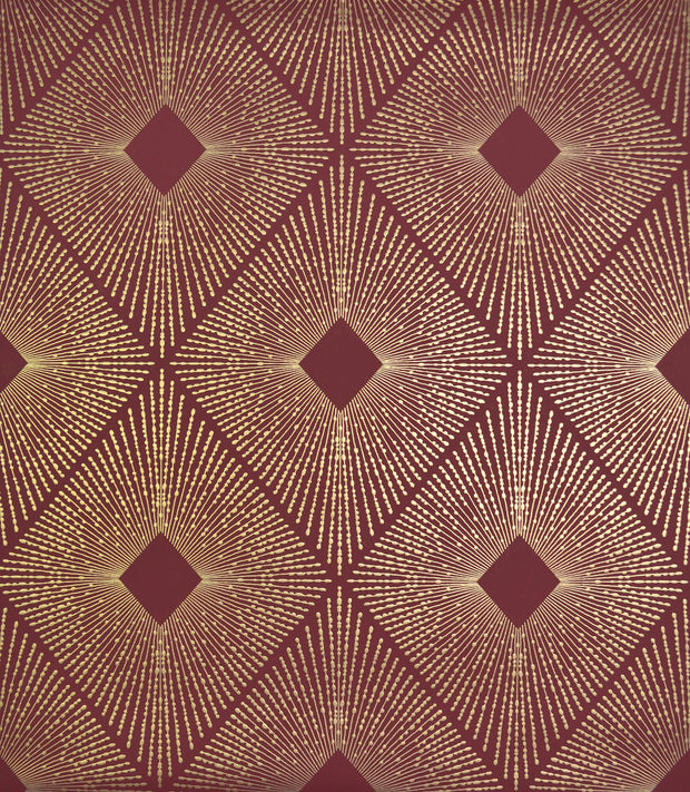 NW3588 Antonina Vella Modern Metals Harlowe Wallpaper Red Gold