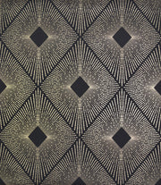 NW3593 Antonina Vella Modern Metals Harlowe Wallpaper Black Gold