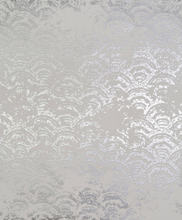 NW3596 Antonina Vella Modern Metals Eclipse Wallpaper White Silver