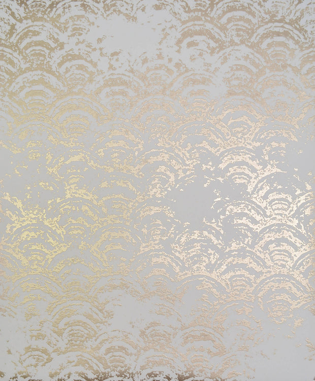NW3598 Antonina Vella Modern Metals Eclipse Wallpaper White Gold