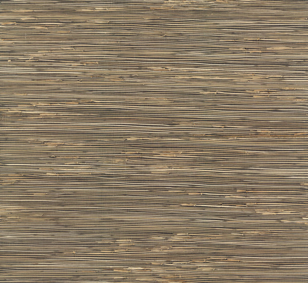 Grasscloth Resource Library River Grass Wallpaper - Black/Brown