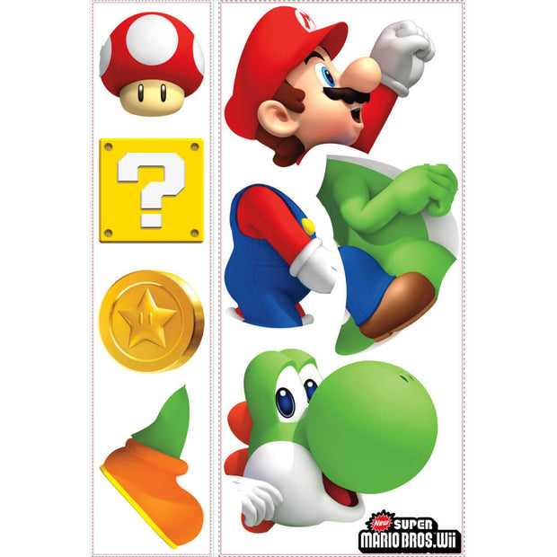 Nintendo Yoshi and Mario Giant Wall Decals