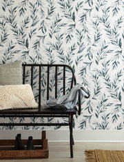 Magnolia Home Olive Branch Peel & Stick Wallpaper - Teal