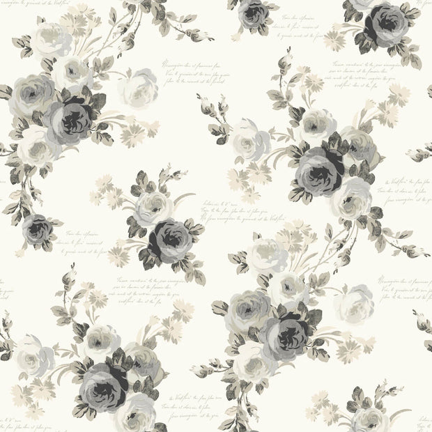 Magnolia Home Heirloom Rose Peel & Stick Wallpaper - Gray & White