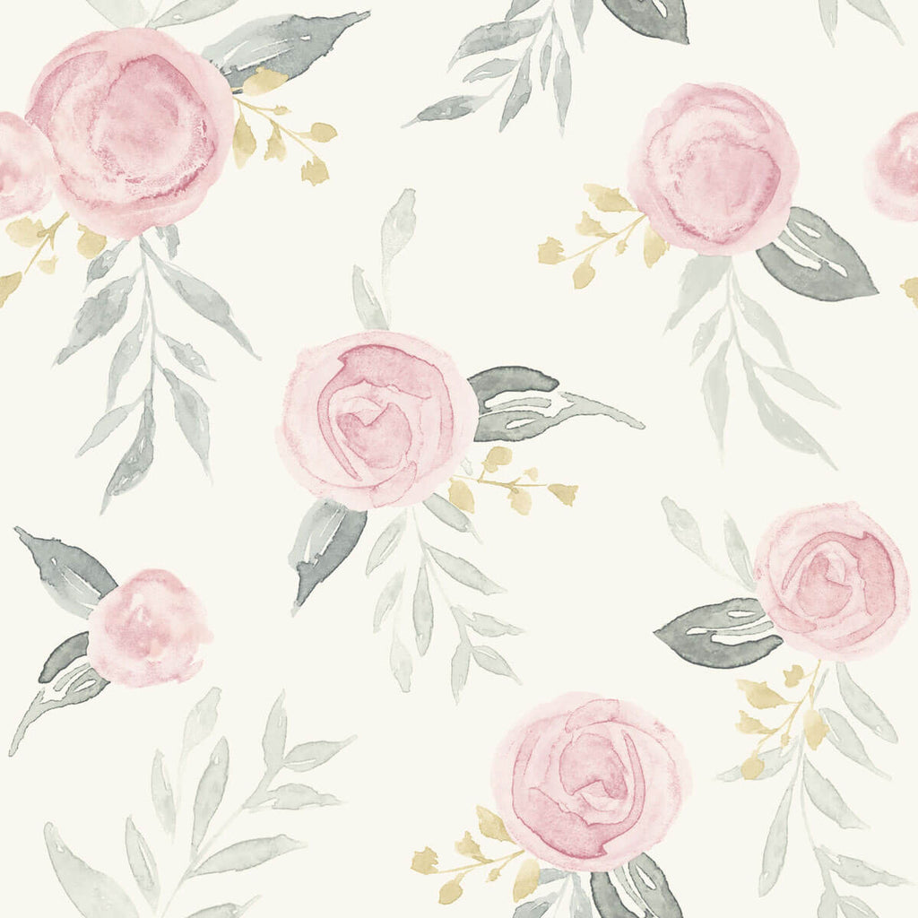 Psw1010rl Magnolia Home Watercolor Roses Peel Stick Wallpaper