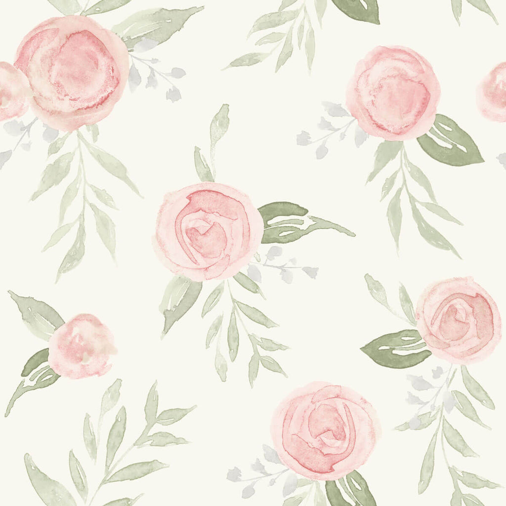 Psw1013rl Magnolia Home Watercolor Roses Peel Stick Wallpaper