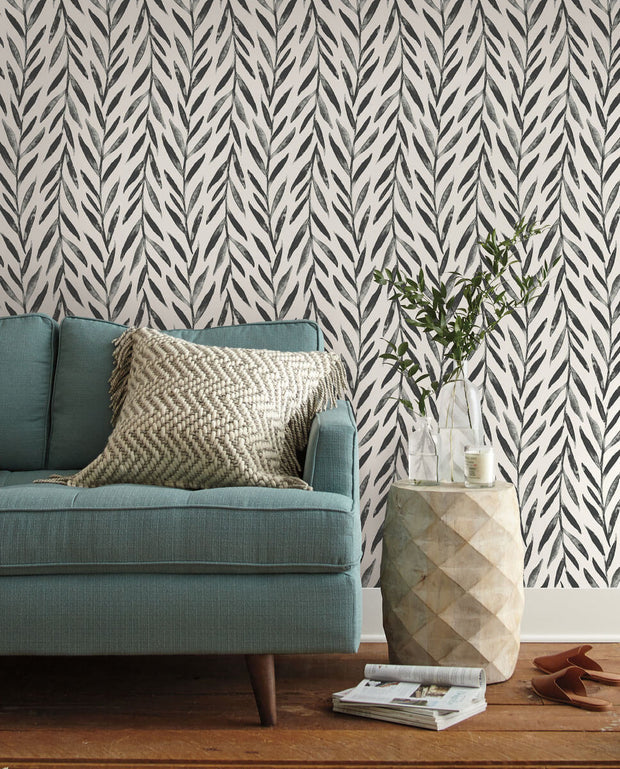 Magnolia Home Willow Peel & Stick Wallpaper - Black