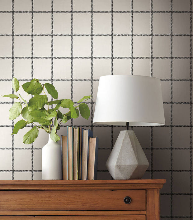 Magnolia Home Sunday Best Peel & Stick Wallpaper - Black & White