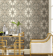 Simply Candice Inner Beauty Peel and Stick Wallpaper - Gray