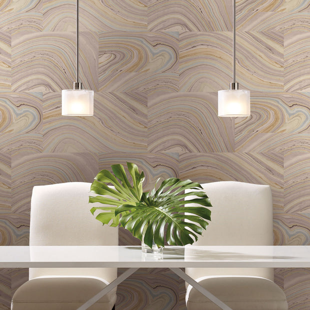 Simply Candice Onyx Peel and Stick Wallpaper - Purple