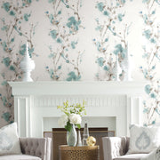 Simply Candice Charm Peel and Stick Wallpaper - Teal